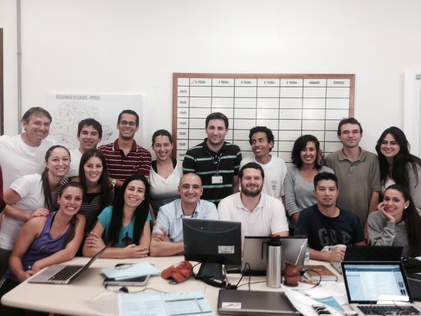 GPAQ recebeu a visita do Inácio Crochemore de Pelotas-RS para receber um treinamento em Sistemas de Informações Geográficas (SIG)