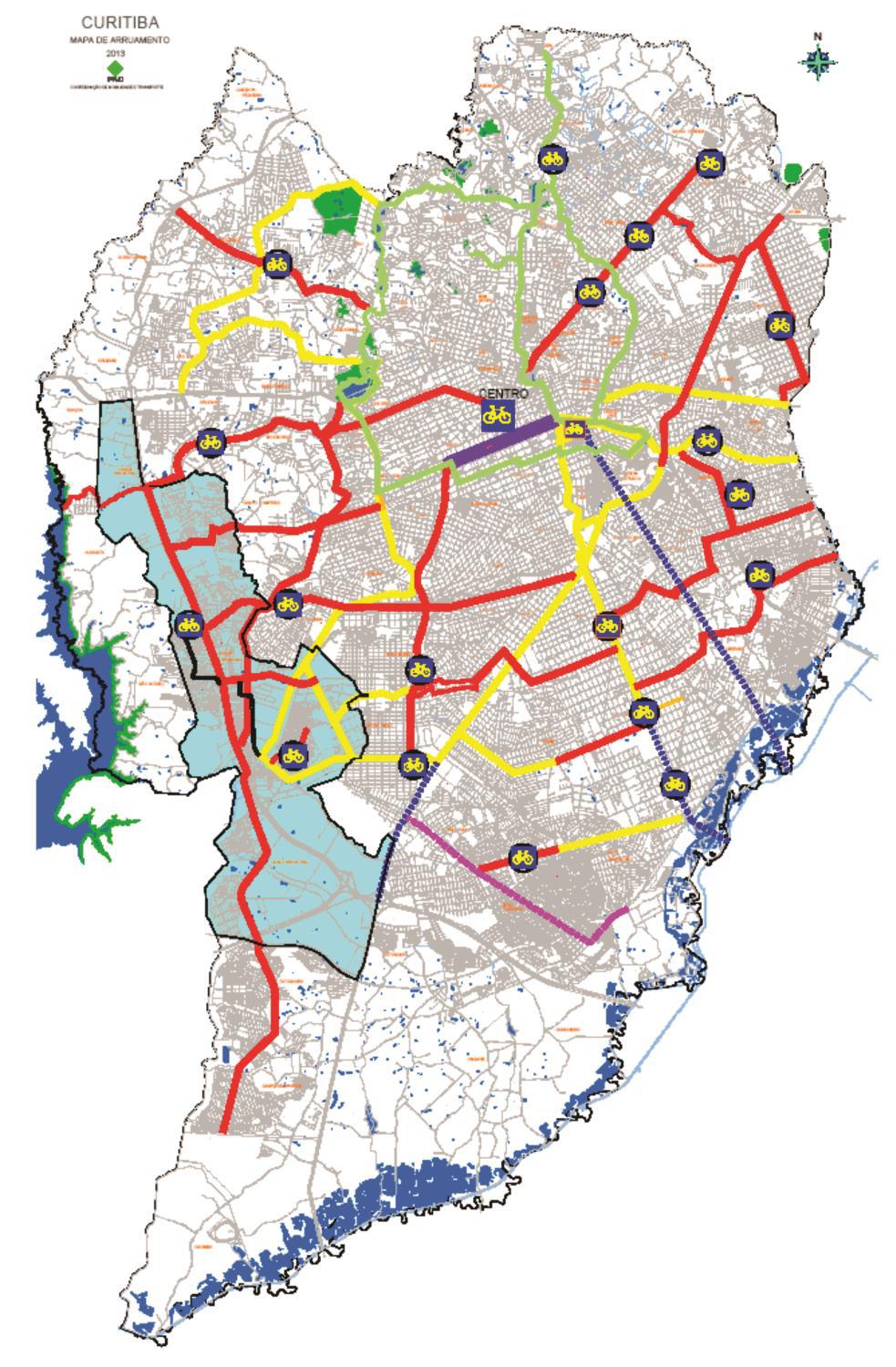 Ciclofaixas de Curitiba