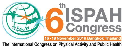 Trabalho aceito no 6th ISPAH Congress em Bangkok, Tailândia.