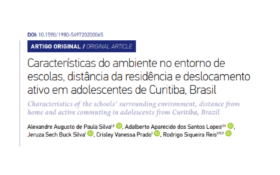 Artigo aceito: Características do ambiente no entorno de escolas, distância da residência e deslocamento ativo em adolescentes de Curitiba, Brasil.