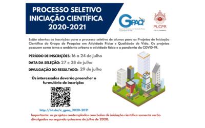 Processo Seletivo Iniciação Científica 2020-2021